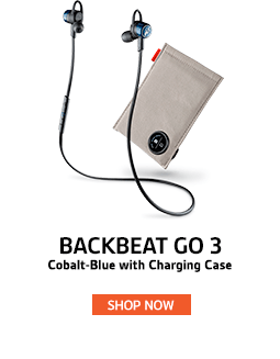 Plantronics BackBeat Go3 with Charging Case - Cobalt-Blue