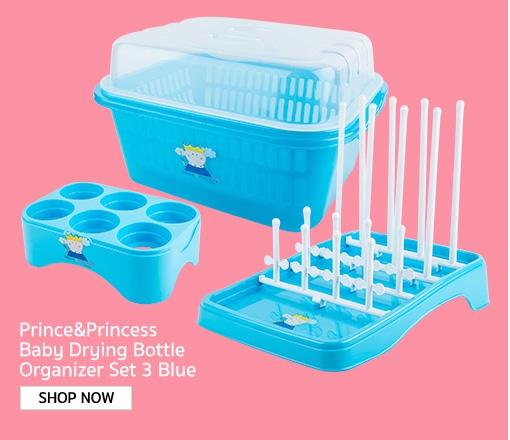NANNY Prince&Princess Baby Drying Bottle Organizer Set 3 Blue